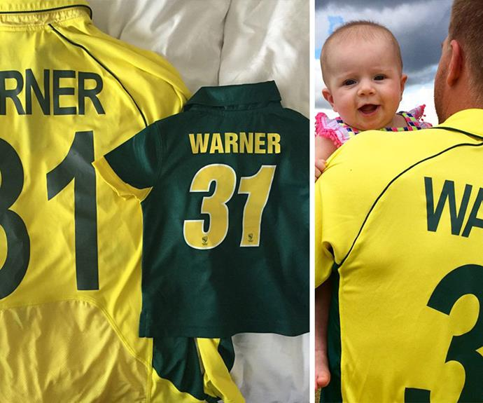 Ivy Mae was prepared to wear a matching Jersey to her dad!