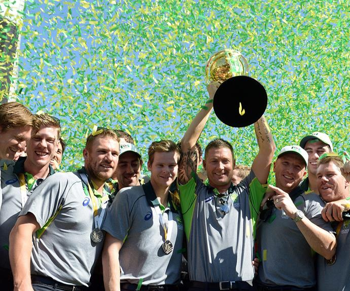 The team were overjoyed to win the Cricket World Cup.