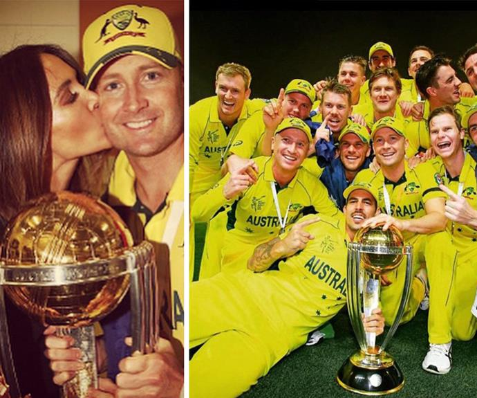 For team captain, Michael Clarke, it was particularly huge as it was his last match, having bowed out of one-day cricket. His wife Kyly was very proud of her man!