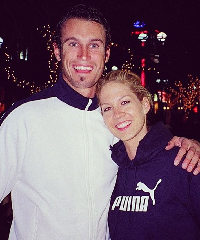Fitzy and Jenna Elfman, 13 years ago