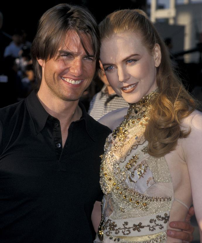 Tom and Nicole when they were still together and a part of Scientology