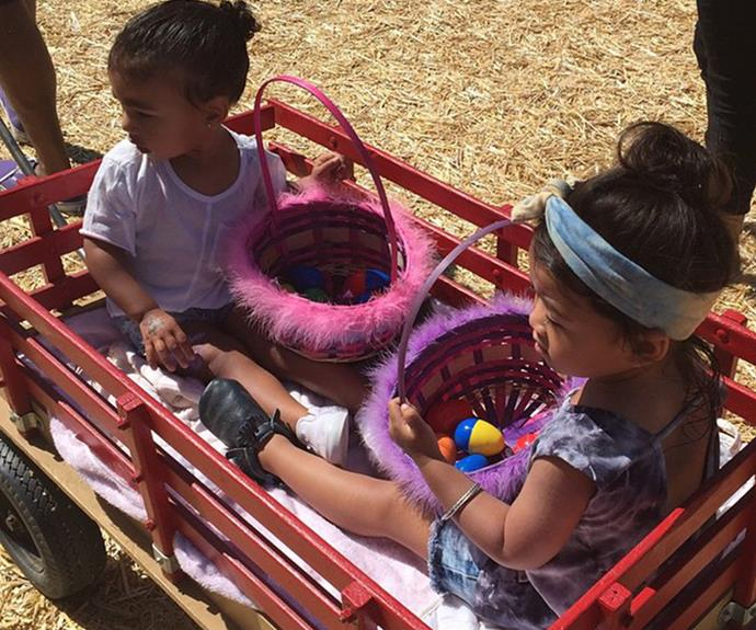 Last year, North West went on another egg hunt with her pal Ryan.