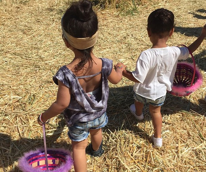 How cute are they, as they hold hands!