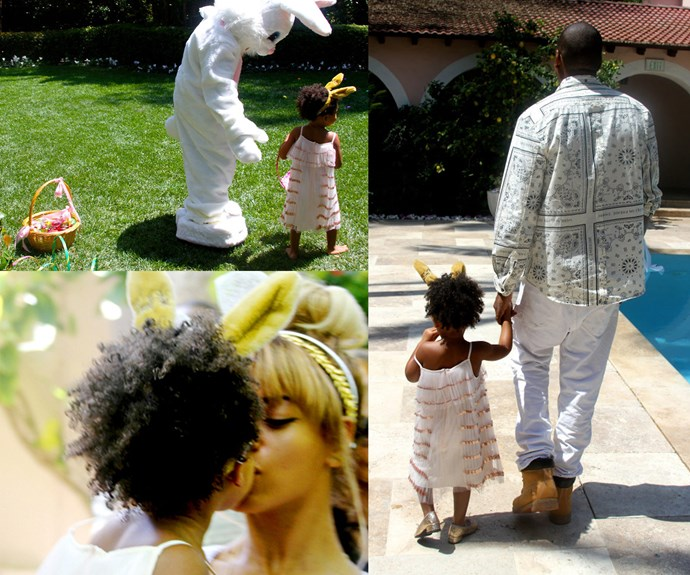 Blue Ivy's Easter with mum, Beyonce and dad, Jay-Z back in 2015.