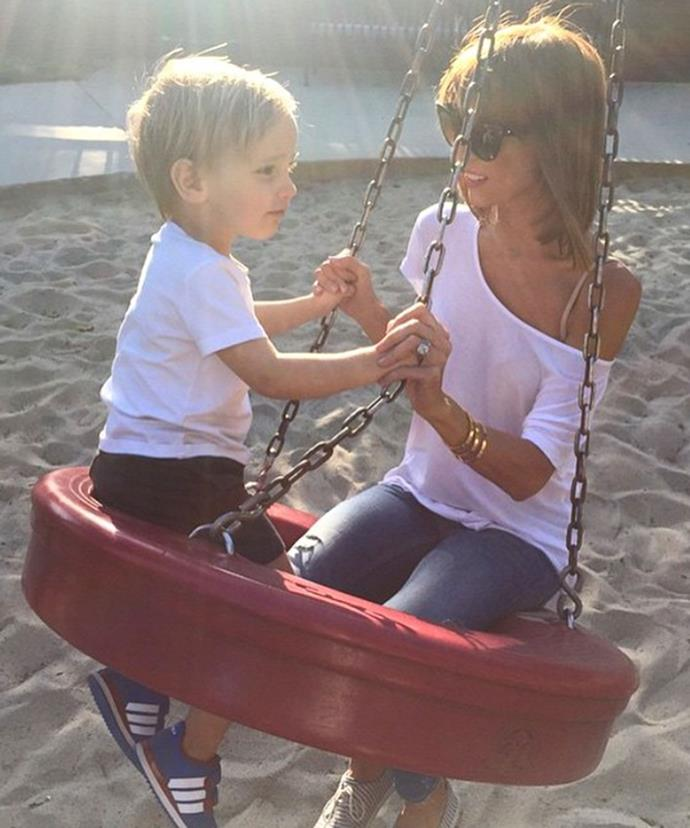 Giuliana garnered much criticism for her weight after her husband Bill posted this picture of her with their two-and-a-half-year old son, with commentators saying she looked even smaller than him.