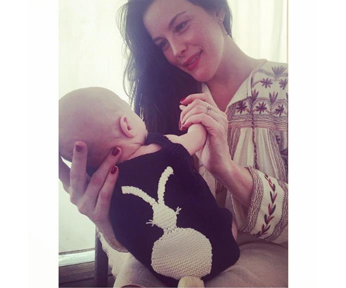 To celebrate her first Easter with her son Sailor, Liv Tyler dressed him in a bunny romper.