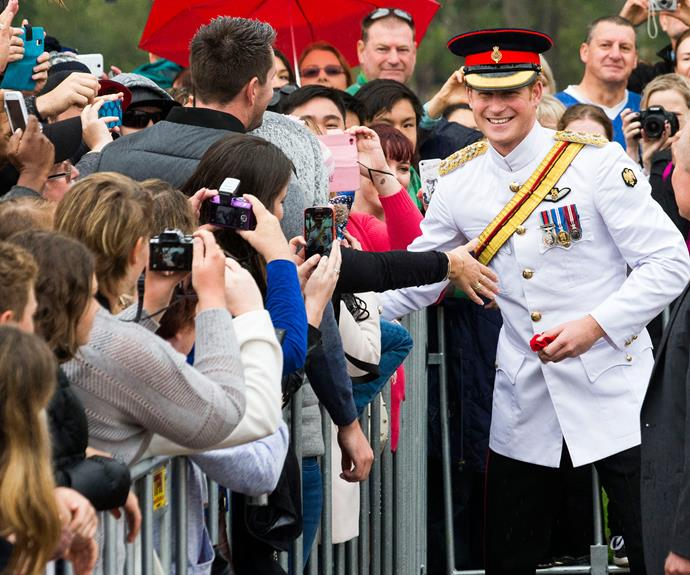 First Pictures Of Prince Harry Arriving In Australia