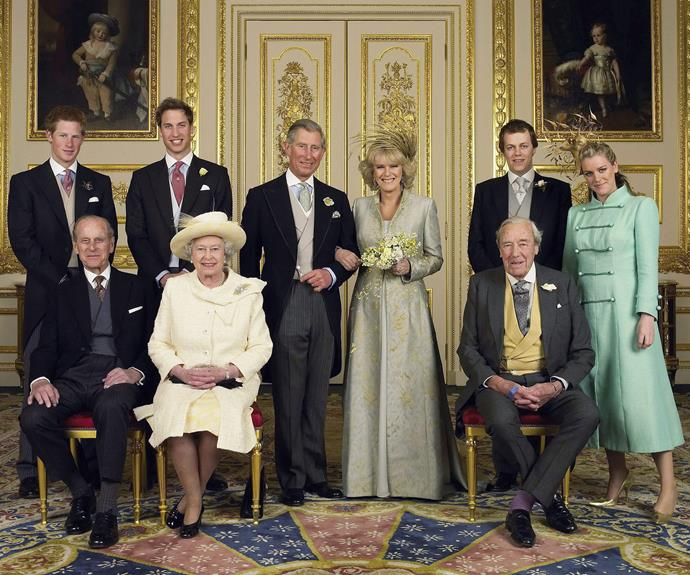 Laura Lopes, furthest from the right, pictured here at Prince Charles and Camilla, Duchess of Cornwall's, wedding in 2005.