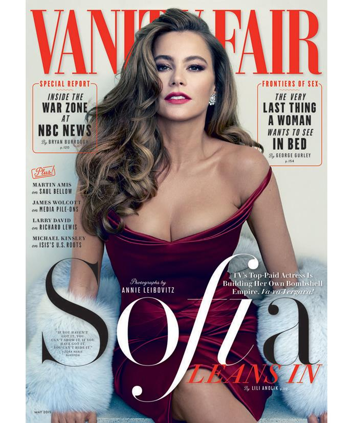 Sofia looked stunning on the cover of Vanity Fair, as shot by renowned photographer Annie Liebovitz.