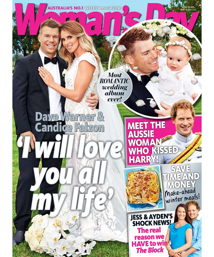 Read the couples romantic wedding vows and see their full weddign album only in *Woman's Day*, on sale 13th April.