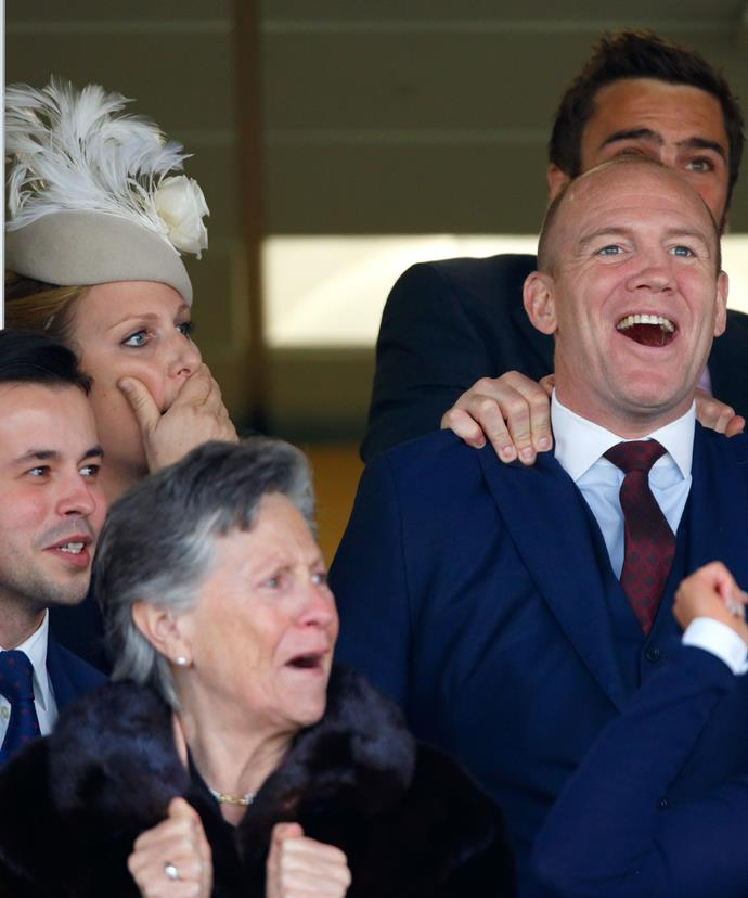 Zara and Mike Tindall look shocked and thrilled with their horse's place!