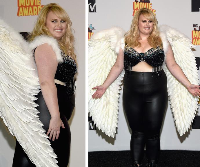 Rebel Wilson wings it at the MTV movie awards!