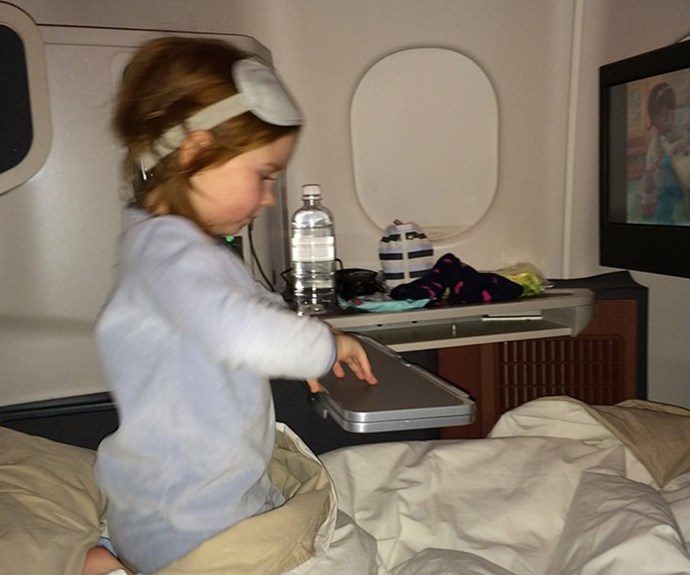 Or first class on a commercial flight.