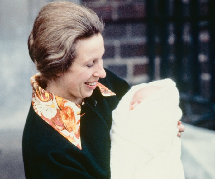 Princess Anne with her baby girl, Zara, born, May 15, 1981.