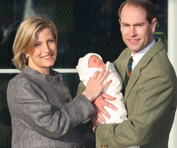 Prince Edward and Sophie, Countess of Wessex with their youngest, James, born, December 17, 2007.