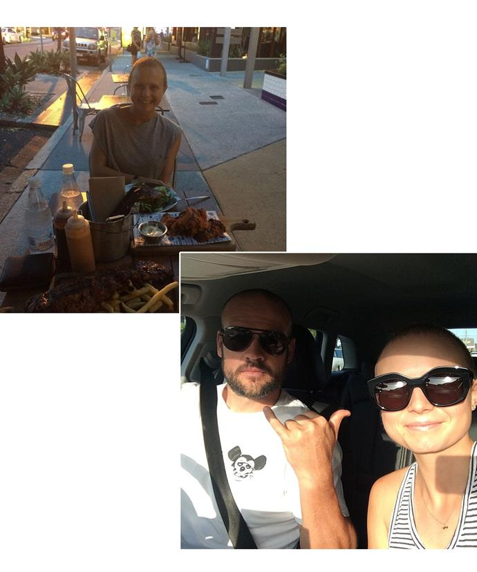 """NRL player Nate Myles shared a selfie with Tessa on Friday to wish her happy birthday - two weeks after sharing a snap of her on a """"date night,"""" Tessa already appears healthier and happier as she begins recovery from chemo."""