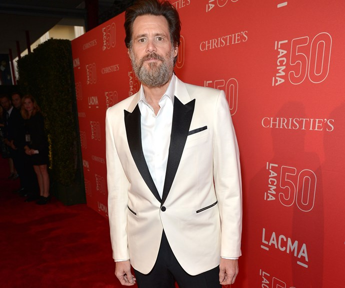 Jim Carrey was sporting a whole new look for his role as The Hermit in *The Bad Batch*.
