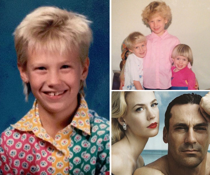 January Jones shares the BEST throwbacks. A fro and a mullet... she has definitely changed!