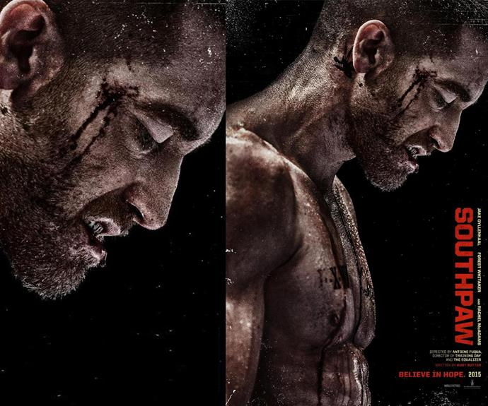 The 34-year-old actor portrays boxer Billy Hope and he's had a complete body transformation.
