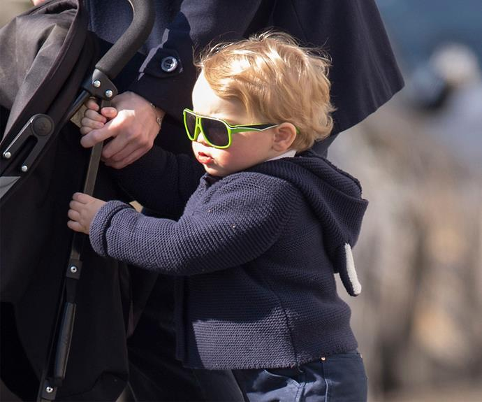 Prince George is all grown up and is out to show his little sibling just how a young royal should behave!