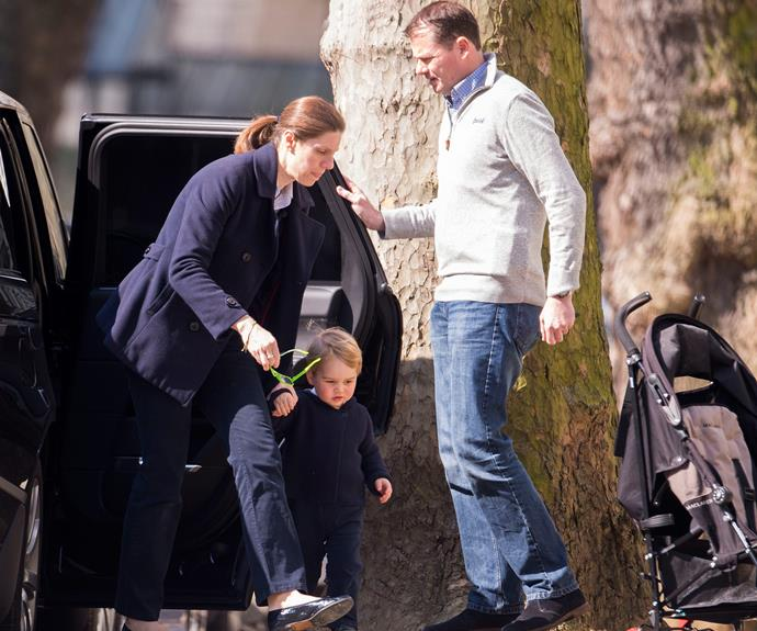 Prince George was ready show his nanny how grown up he is!