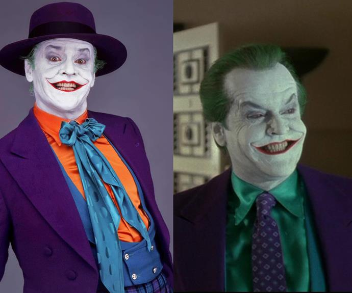 "Jack Nicholson potrayed The Joker, in the 1989 movie ""Batman."""