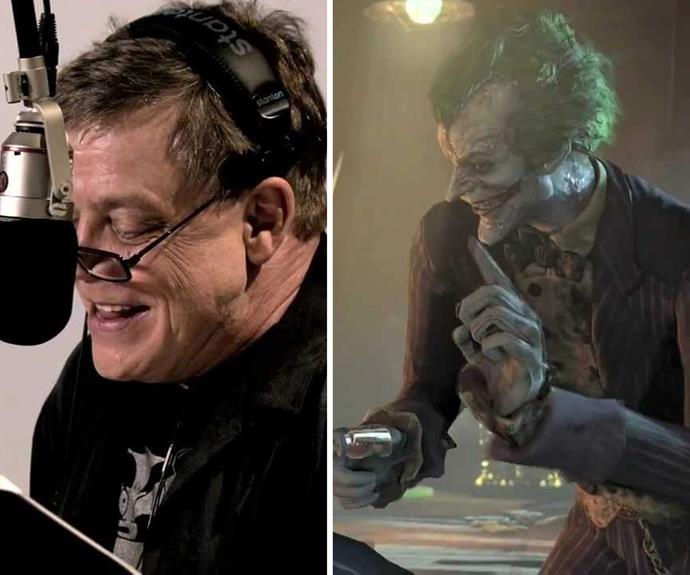 The force is with Mark Hamill who voiced the villain in the animation The Mask of the Phantasm, Batman Beyond: Return of the Joker.