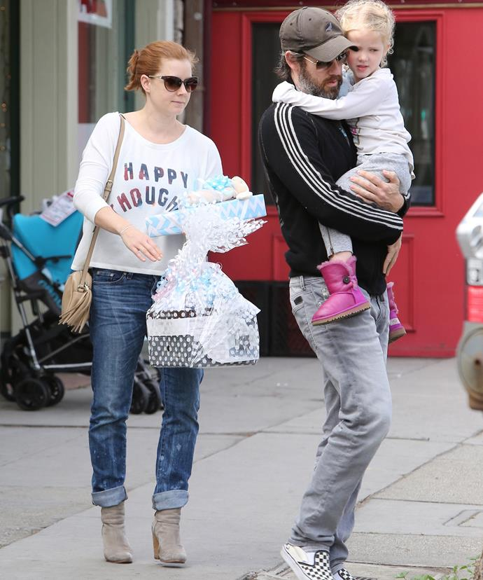 Amy and Darren spotted out shopping with their daughter Aviana earlier this year.