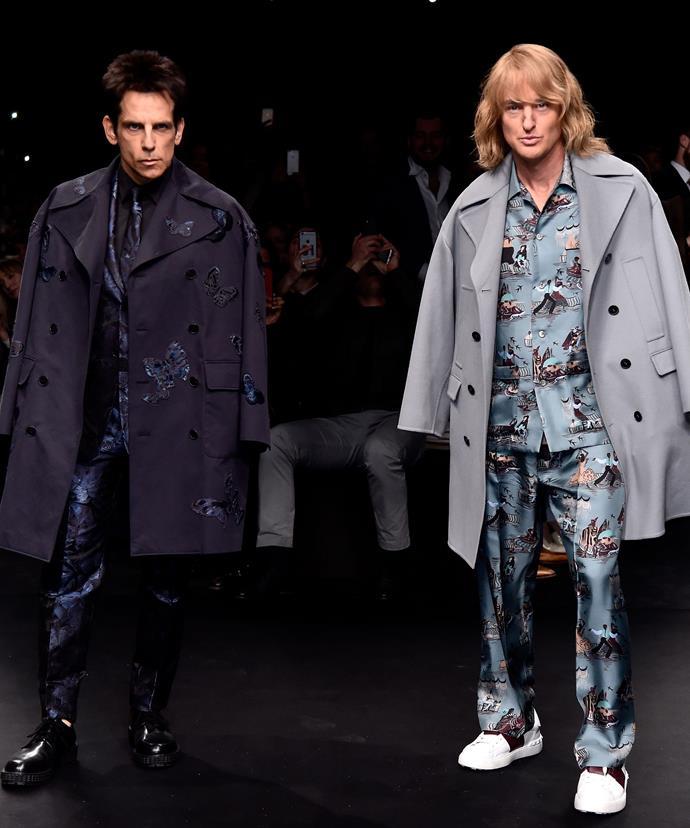 Ben Stiller and his co-star Owen Wilson announced the Zoolander sequel via a strut down the Paris catwalk last month