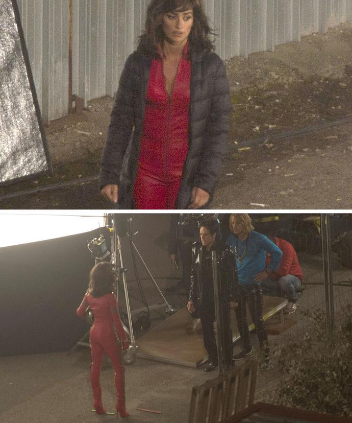 Penelope Cruz has also been seen shooting scenes with Ben Stiller and Owen Wilson in Europe.
