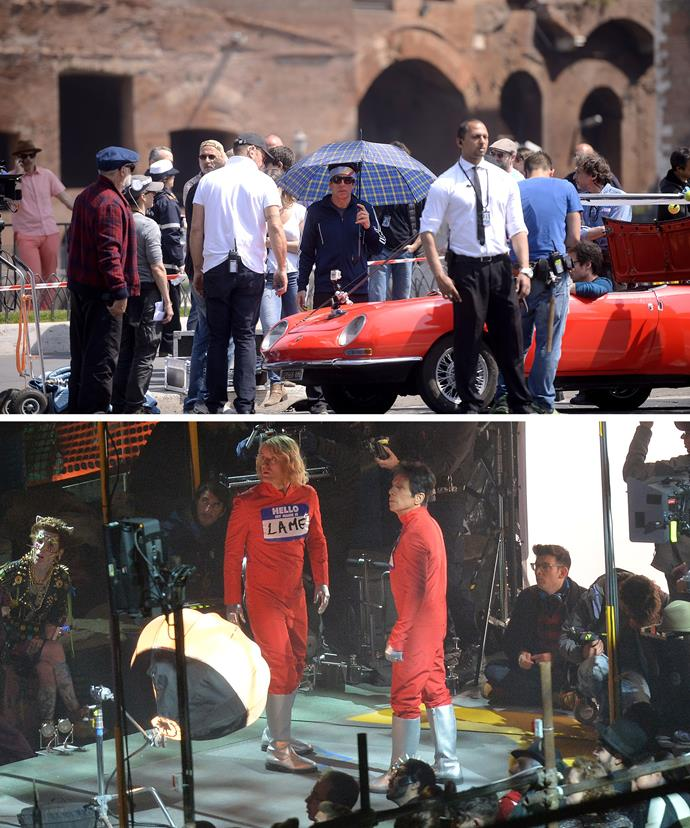 Ben Stiller and Owen Wilson seen filming around Europe - they drew a particularly big crowd one day while shooting outside the Colosseum.