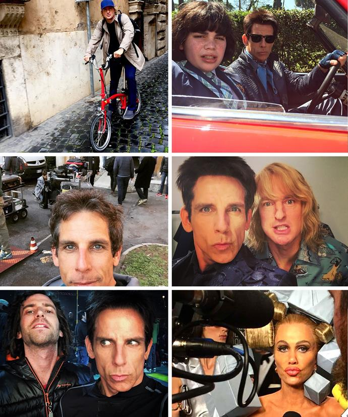Some of the tantalising behind-the-scenes snaps shared by Stiller to his Instagram account!