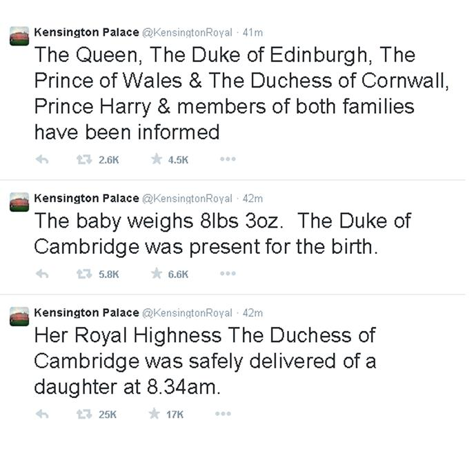 Kensington Palace announced the exciting news that the Duchess welcomed a healthy baby Princess!