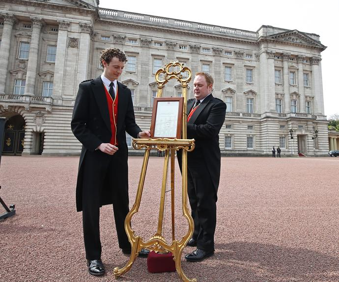 Buckingham Palace's official announcement of the royal birth.