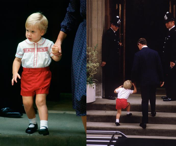 We can't help but see double! Prince George reminds us of when Prince William visited Harry for the first time!