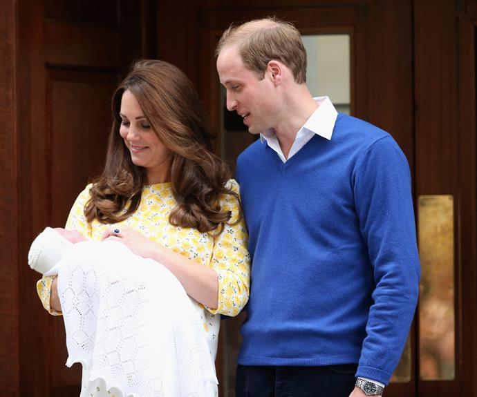 The parents to Prince George gazed at their new little one.