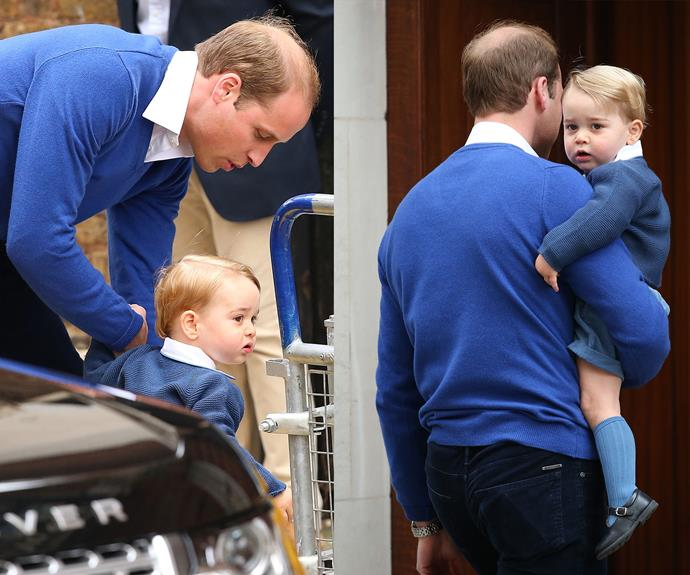 Prince George looked so adorable in his matching jumper with his father.