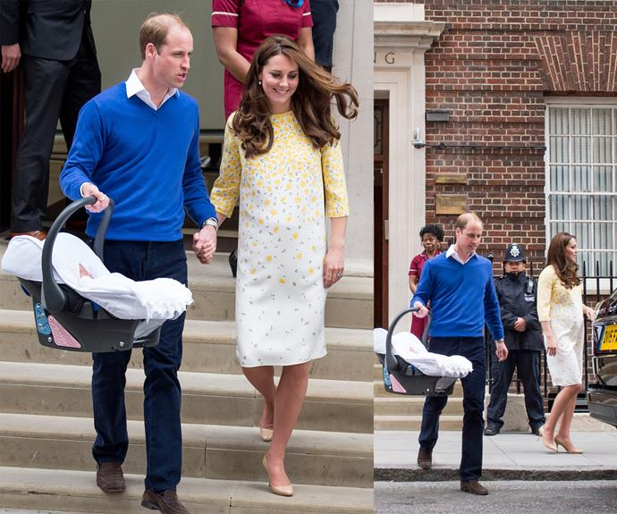 The royals off to enjoy their newest addition!
