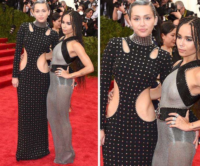 Miley Cyrus and Zoe Kravitz