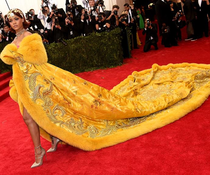 Rihanna certainly made a bold statement!