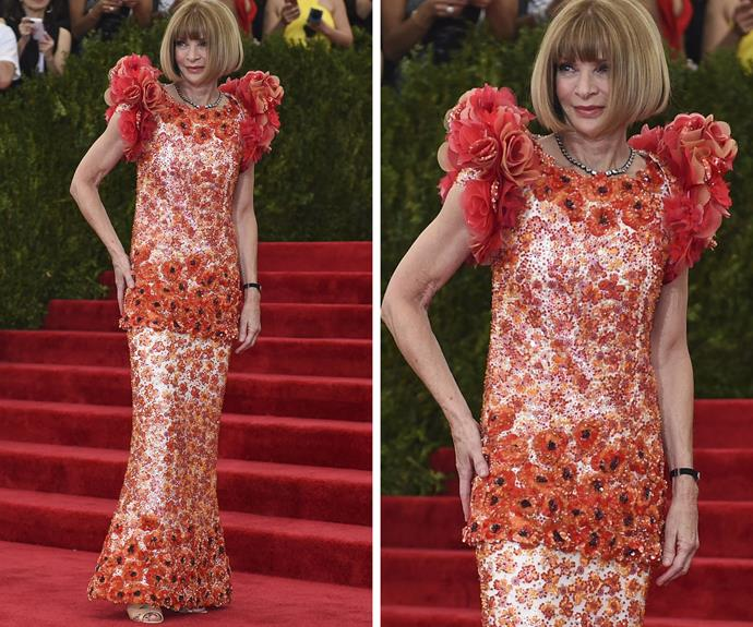 Fashion editor and event organiser Anna Wintour.