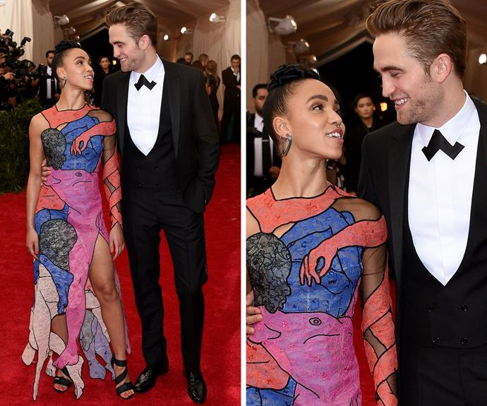 Robert Pattinson stepped out publicly with his new fiancee, musician FKA Twigs, for the first time since their engagement.