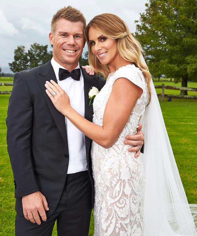 The gorgeous couple shared their very special day with *Woman's Day*