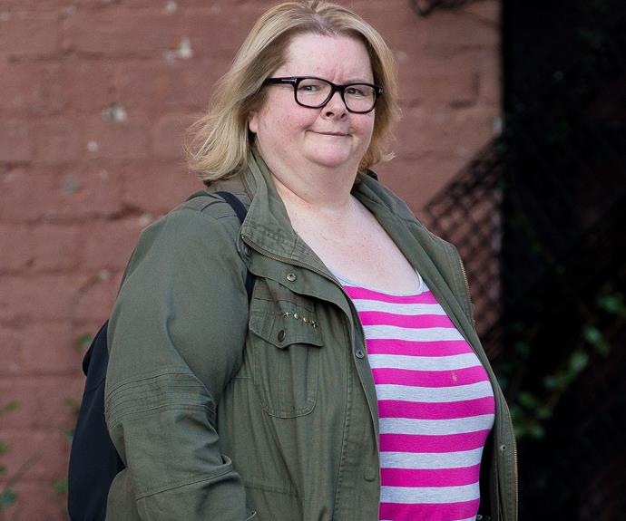 Magda Szubanski, spotted out and about in South Melbourne.