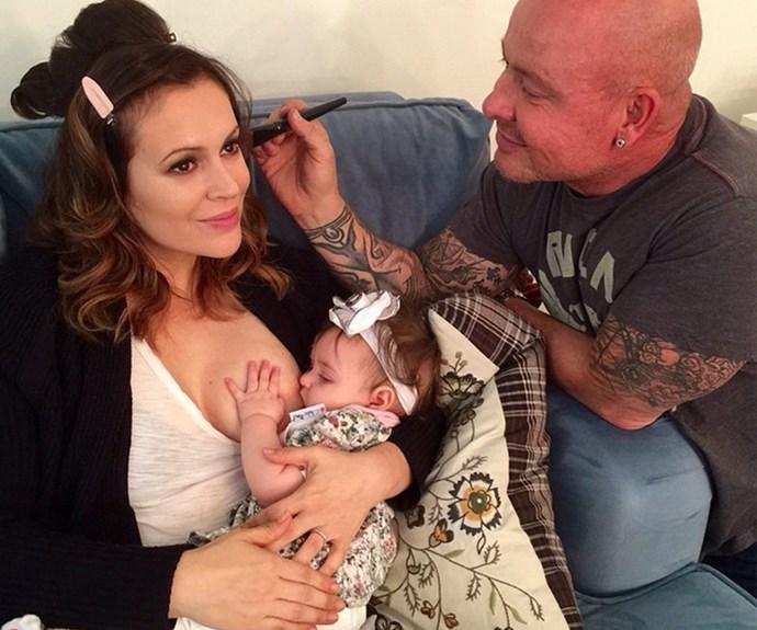 Alyssa Milano with baby Elizabella.