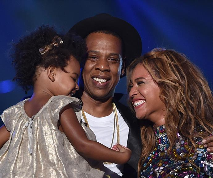 "Beyonce with her darling Blue Ivy,""being a mother is my biggest ever role!"""
