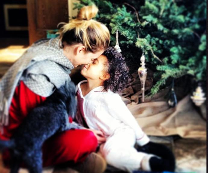 Ellen Pompeo sharing a special moment with her daughter, Stella.