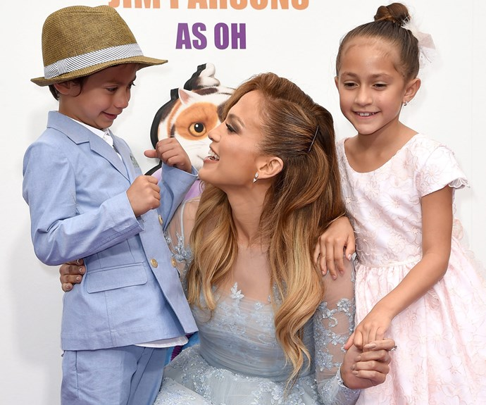 JLo can't get enough of her twins, Max and Emme.