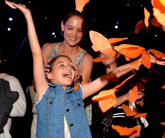 "Katie Holmes with her only daughter, [Suri Cruise.](http://www.womansday.com.au/celebrity/hollywood-stars/suri-cruises-cutest-moments-15125|target=""_blank"") The two are the best of friends!"