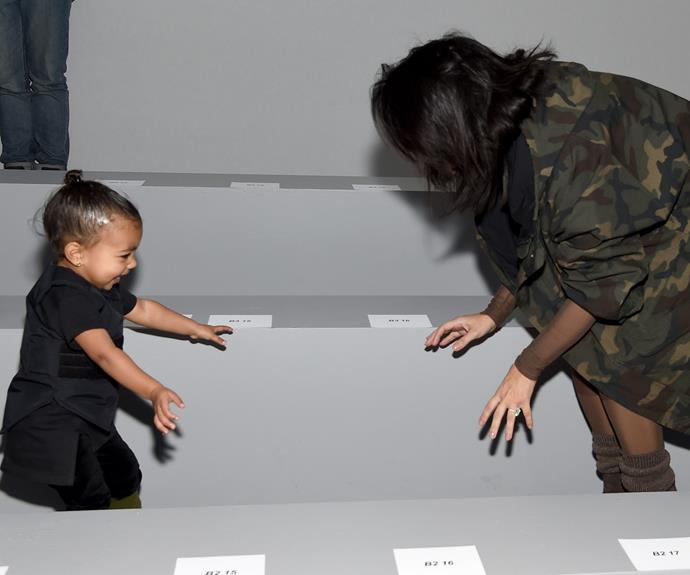 Kim Kardashian jokes about with her daughter North.